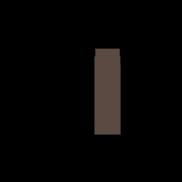 Rauchrohr 500 mm, Ø 130 mm, braun-metallic