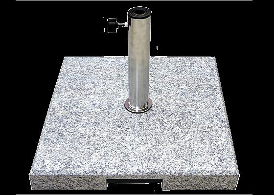 granitsockel 55 kg grau mit ausziehgriff und rollen schirmst nder. Black Bedroom Furniture Sets. Home Design Ideas