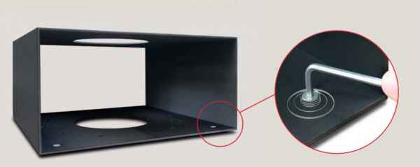 ELEMENTS Stellfüße, 4er Set für seitlich angesetzte Box