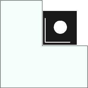 Vorlegeplatte für Elements Kaminofen feststehend, 1040 x 1040 mm, Form 8