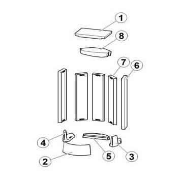 STILA Keramott Feuerraumauskleidung komplett (Ziffer 1-6)