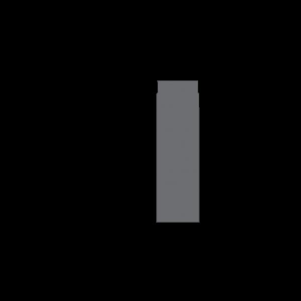 Rauchrohr 500 mm, Ø 130 mm, gussgrau