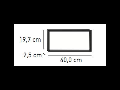 ELEMENTS Distanzrahmen 2,5 x 40 x 19,7 cm für Wandhalterung