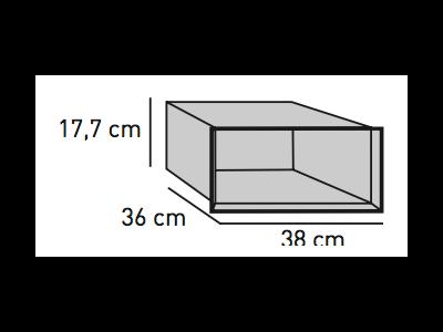 ELEMENTS Strahlschutz-Einsatz für hängende Optik-Box 38,0 x 36,0 x 17,7 cm