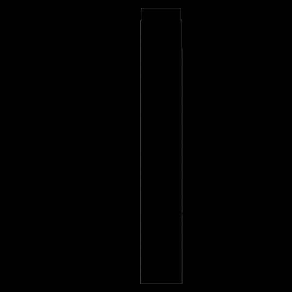 Rauchrohr 1000 mm, Ø 120 mm mit Drosselklappe, schwarz-metallic