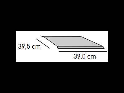 ELEMENTS Strahlschutzblech 39,0 x 39,5 cm