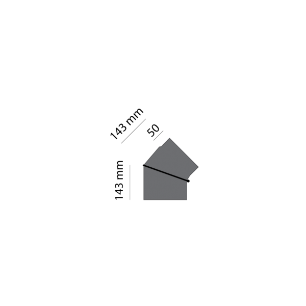 Winkelrohr 0-45° verstellbar, Ø 150 mm, gussgrau