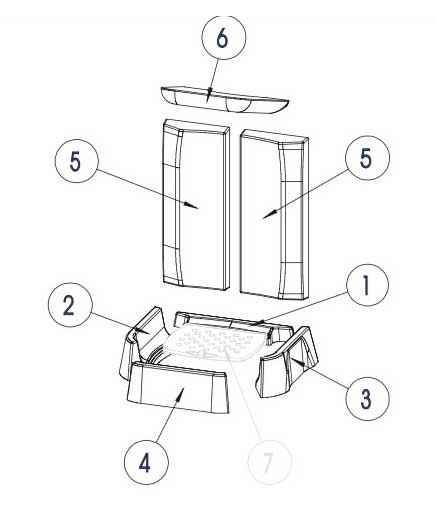 GLASS Keramott Feuerraumauskleidung komplett (Ziffer 1-7)
