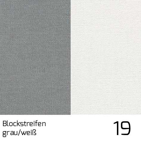 Dolan Streifen grau-weiss 19 | 100% Polyacryl (Dralon®)