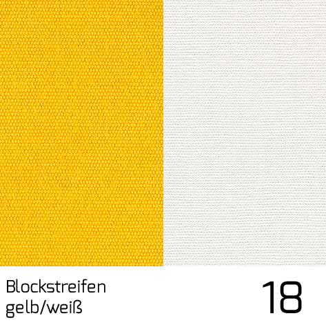 Dolan Streifen gelb-weiss 18 | 100% Polyacryl (Dralon®)
