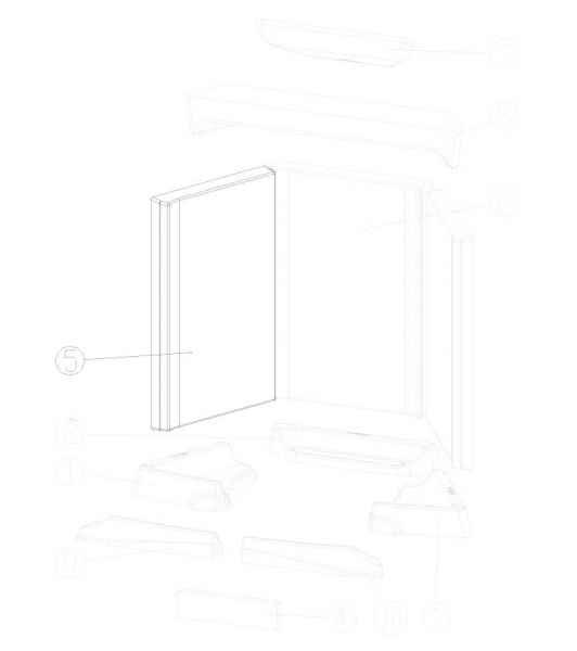LOUNGE / LOUNGE Xtra Keramott Seitenwand links oder rechts