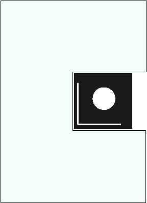 Vorlegeplatte für Elements Kaminofen von Skantherm drehbar, 1400 x 1005 mm, Form 2