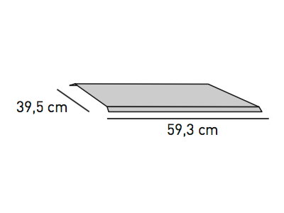 ELEMENTS Strahlschutzblech 59,3 x 39,5 cm