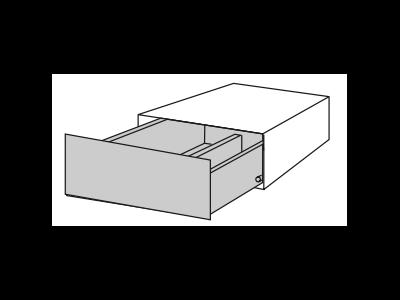 ELEMENTS Tip-On Schubkasten mit Stahlfront für 40er Box