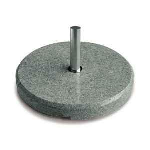 Granitsockel 90 kg grau mit Standrohr Stahl für P+