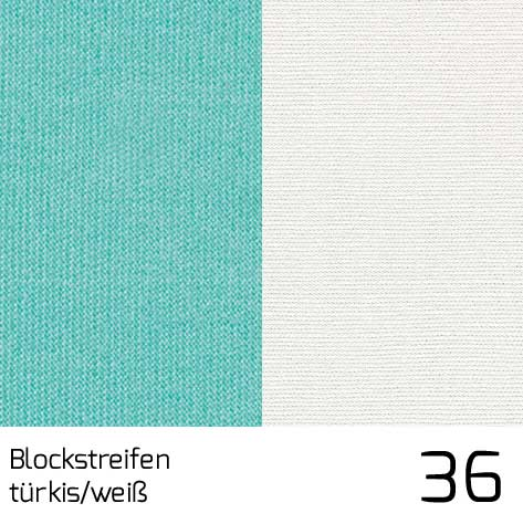Dolan Streifen türkis-weiss 36 | 100% Polyacryl (Dralon®)