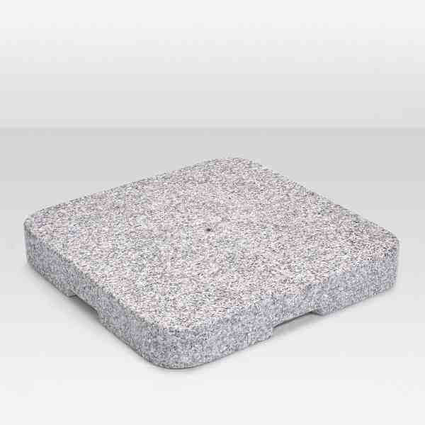 Granitsockel Z 90 kg mit Standrohr P+, Edelstahl