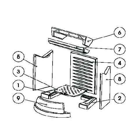 PRADO Keramott Feuerraumauskleidung komplett (Ziffer 1,2, 4-9 - ohne Rost)