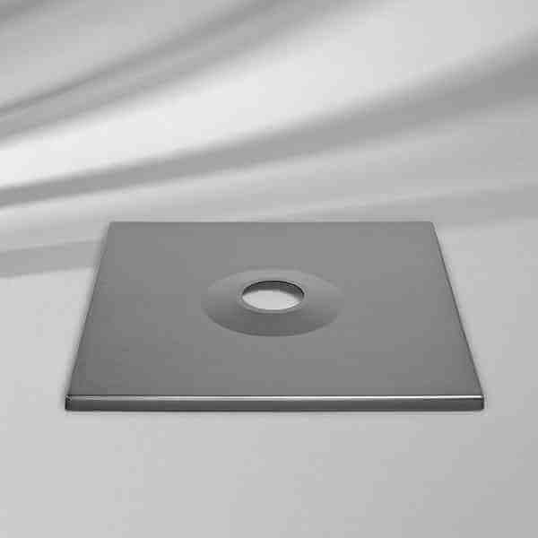 Abdeckung zu Sockel M4, Aluminium-Optik