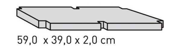 ELEMENTS Strahlschutzplatte 59 x 39 x 2 cm