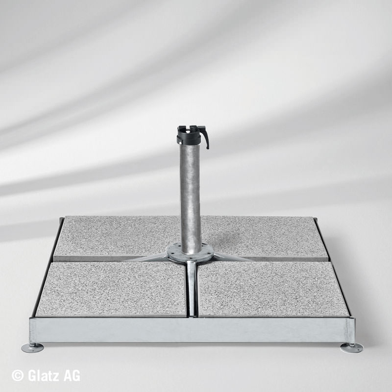 sockel m4 120 kg mit standrohr m4 stahl verzinkt ohne platten. Black Bedroom Furniture Sets. Home Design Ideas